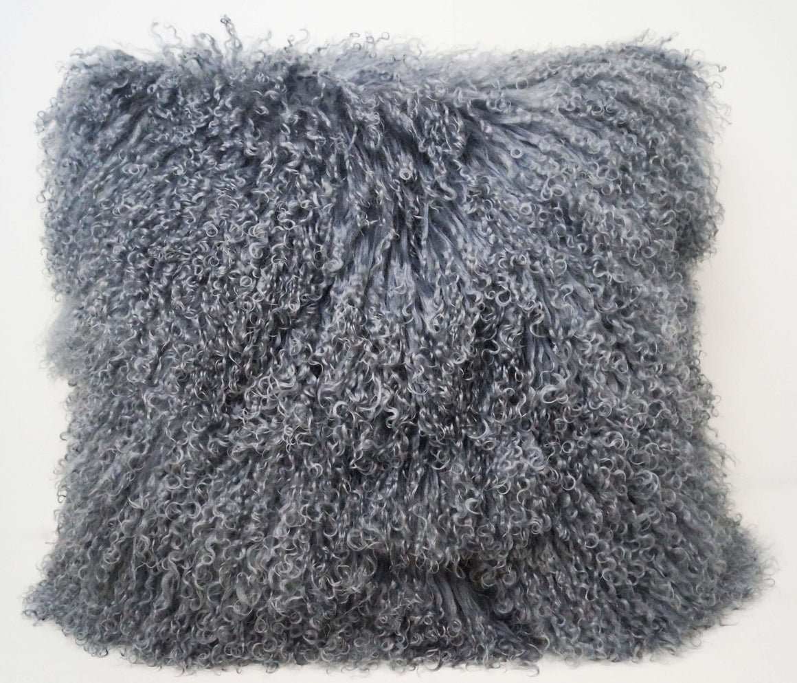 Exotic Steel Grey Tibetan Sheep Throw or Rug - Rustic Deco Incorporated