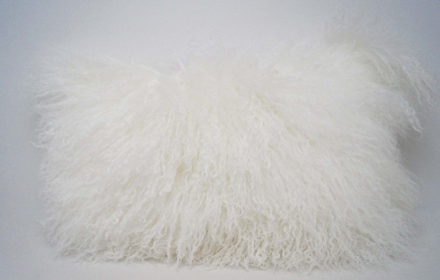 Exotic White Tibetan Sheep Throw or Rug - Rustic Deco Incorporated