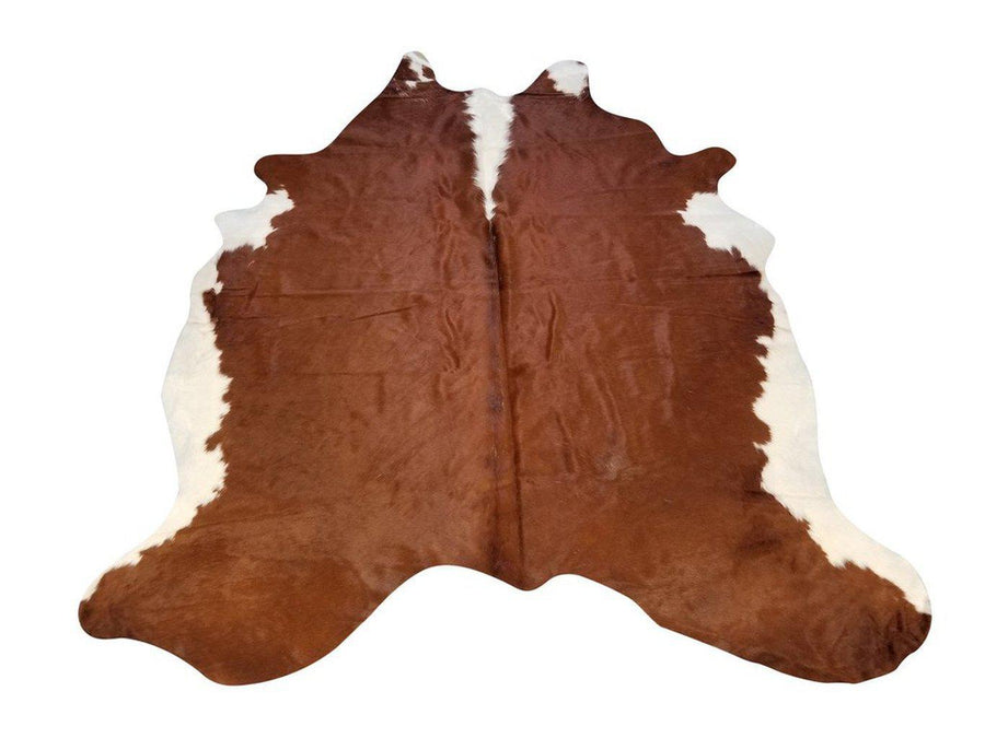 Hereford Genuine Brazilian Cowhide Area Rug Wall Hanging Or Upholstery 6x8' - Rustic Deco Incorporated