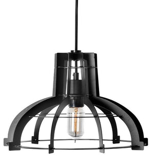 "Large Black Iron Industrial Pendant Light Lighting - 20"" wide Lighting Rustic Deco"