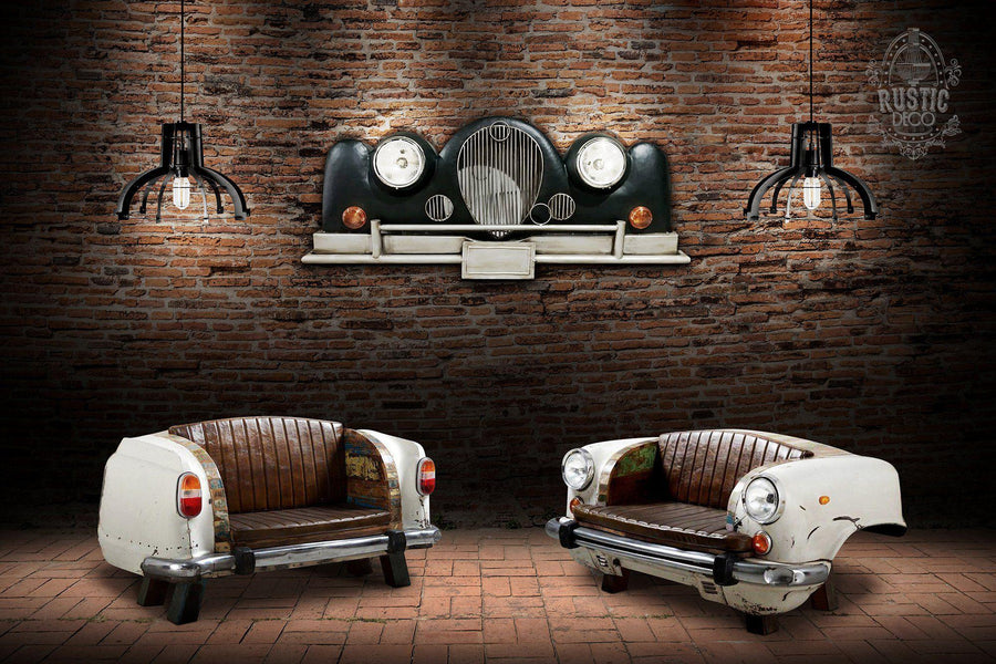 "Rolls Royce 3D Metal Wall Art Wall Light - 65"" Auto Enthusiast Wall Art Rustic Deco"