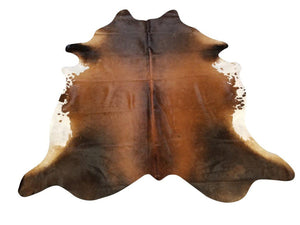 Tan And Black Genuine Brazilian Quality Cow Hide Area Rug Wall Hanging 6x8' Rug Chesterfields