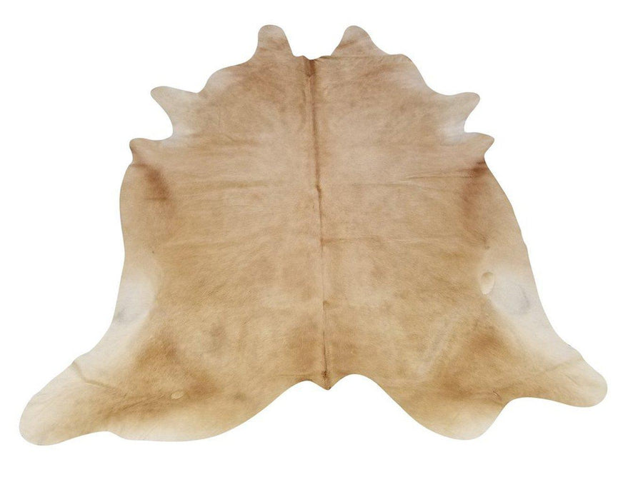 Tan Brazilian Genuine Quality Cow Hide Area Rug Wall Hanging XL 6x8' Rug Chesterfields