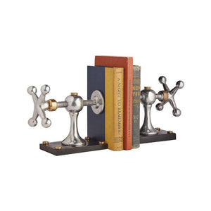 Windlass Bookends - Early Sail Line Tension Turnbuckles - Nautical - Vintage Industrial Bookends Pendulux