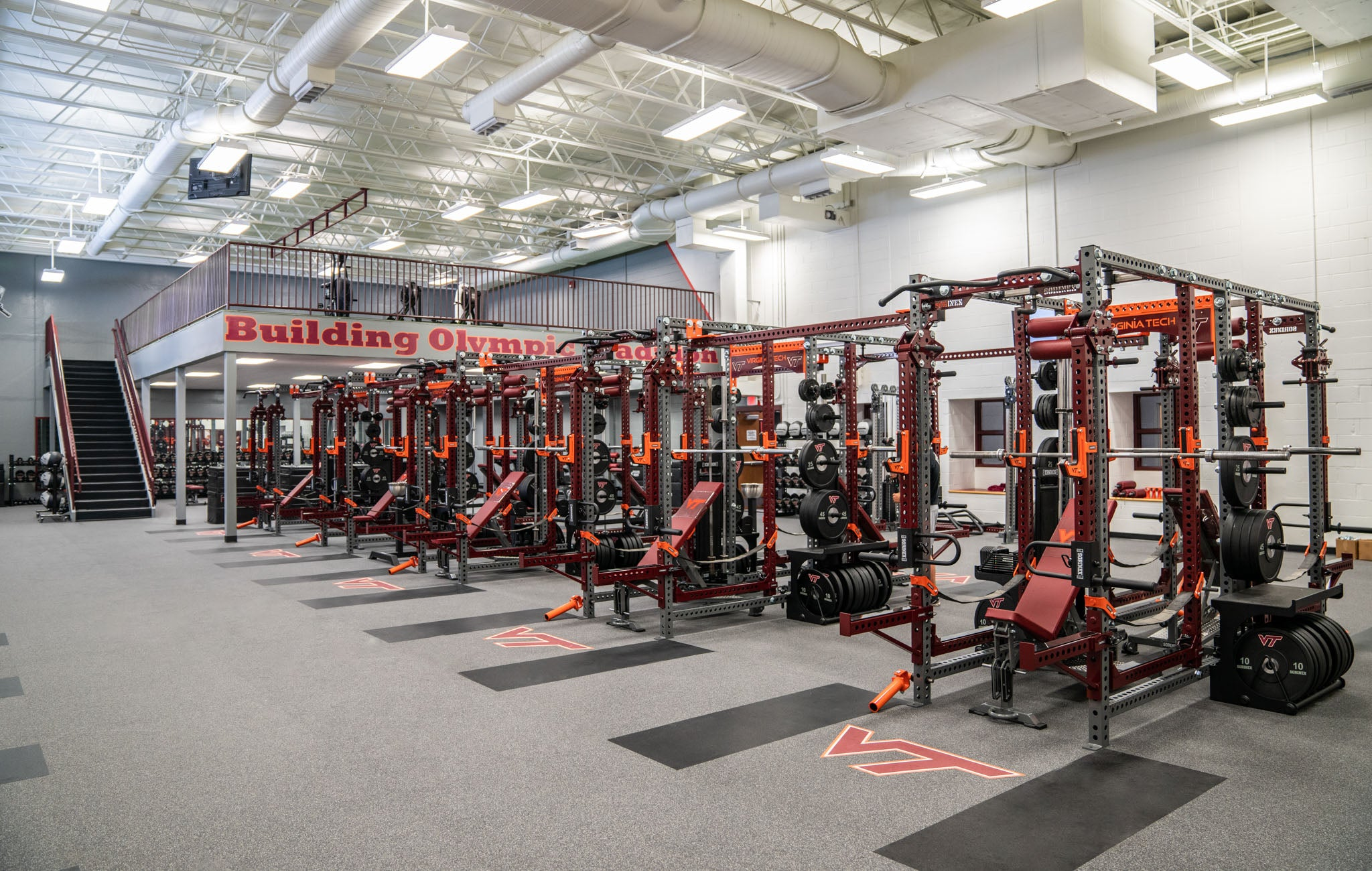 Virginia Tech Weight Room