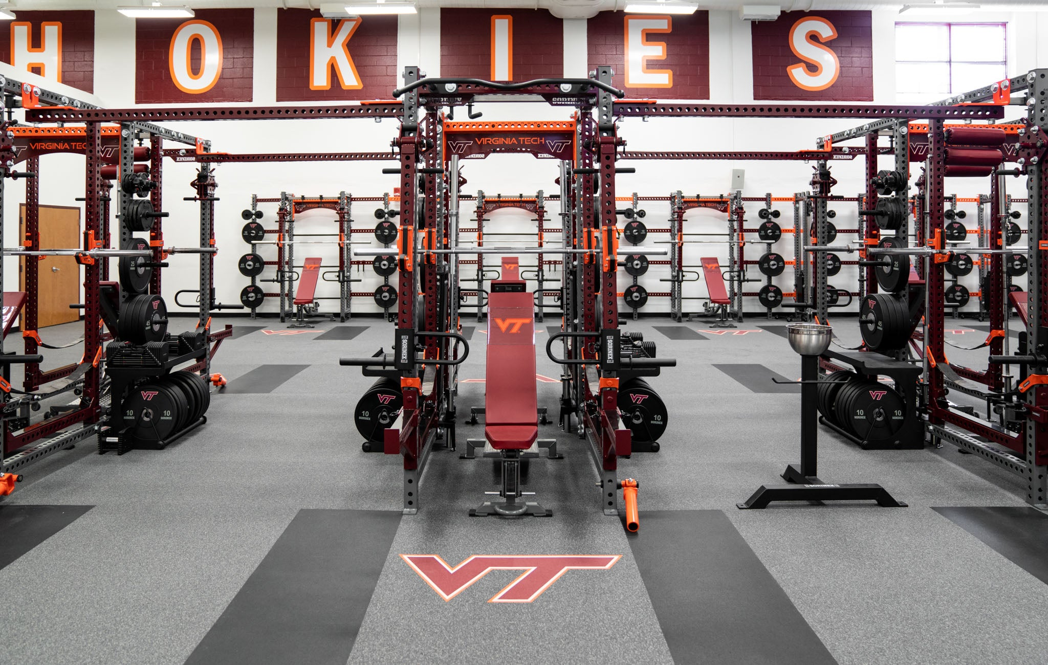 Virginia Tech Olympic Weight Room