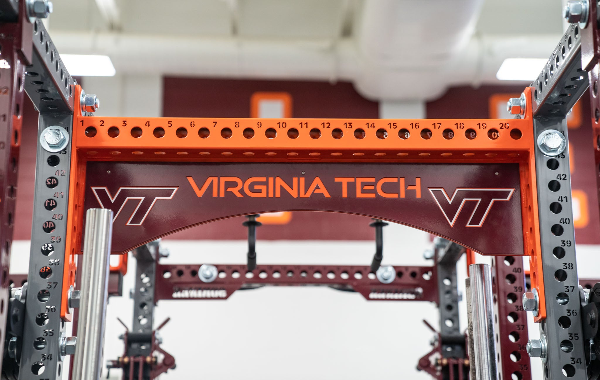 Virginia Tech power racks