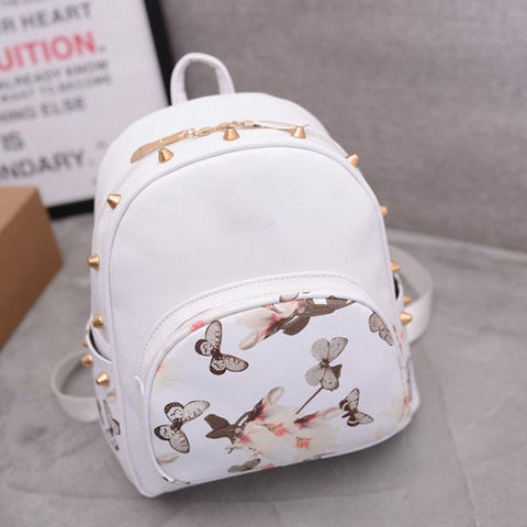 Copy of MANSI Korean Fashion Backpack with Spikes and PU leather Zipper