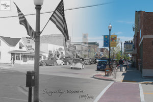 Then & Now Art®: 3rd Avenue - Sturgeon Bay, WI [1940/2018]