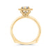 14K Two-Tone Gold Round Diamond Marquise Shape Halo Engagement Ring with Euro Shank