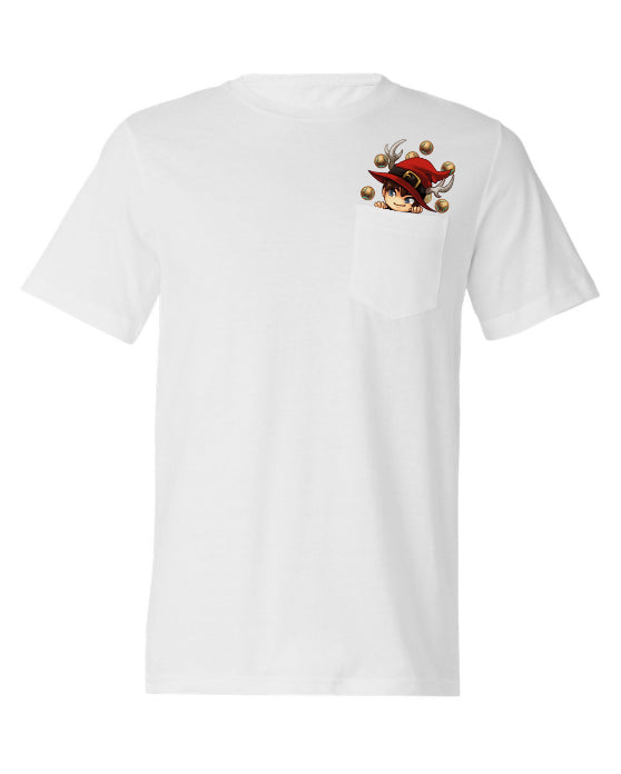 MUSELK 'HEAD' WHITE POCKET T-SHIRT