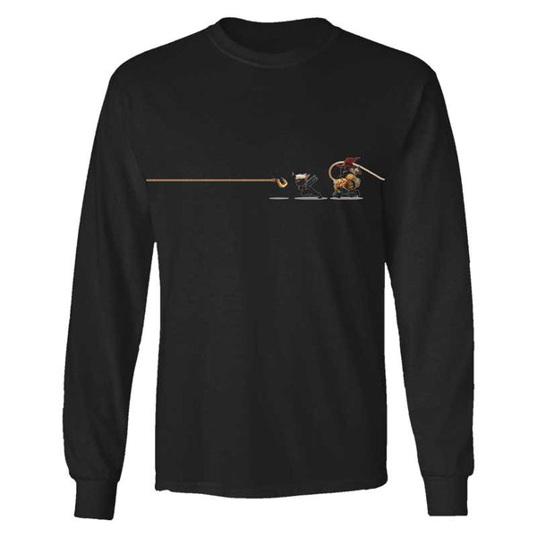 MUSELK ROPED BLACK LONGSLEEVE T-SHIRT