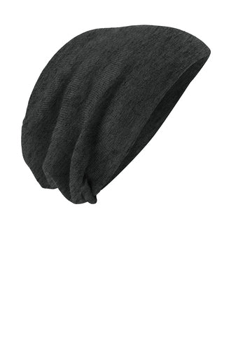 Grey Thin BLUE Line Punisher Skull Slouch Beanie Hat