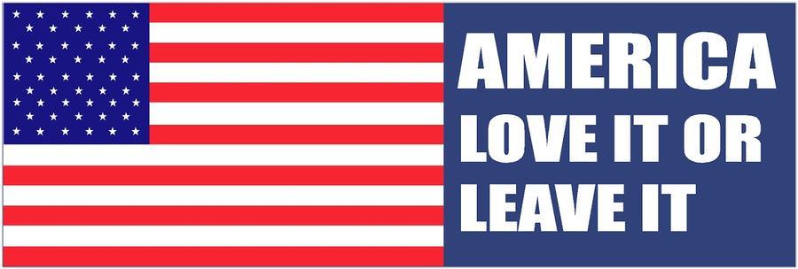 "3"" x 9"" America Love it or Leave Bumper Sticker Decal"