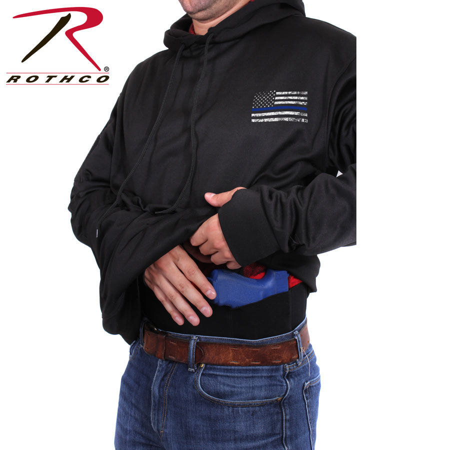 Rothco Thin Blue Line Concealed Carry BLACK Hoodie