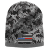 Camouflage Thin Blue / Red Line FLAG Skull Cap