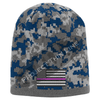 Blue Camo subdued Thin Pink Line American Flag