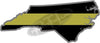"5"" North Carolina NC Thin Gold Line State Sticker Decal"