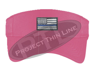 Pink Embroidered Thin Blue Line American Flag Visor