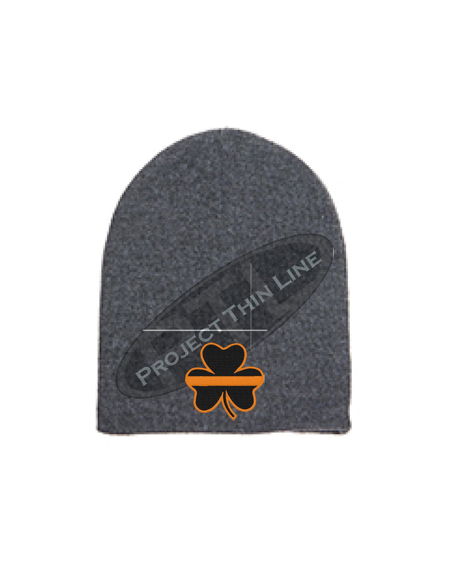 Thin Orange Line Shamrock Skull Cap