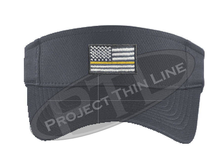 Embroidered Thin Yellow Line American Flag Visor