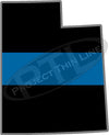 "5"" Utah UT Thin Blue Line State Sticker Decal"