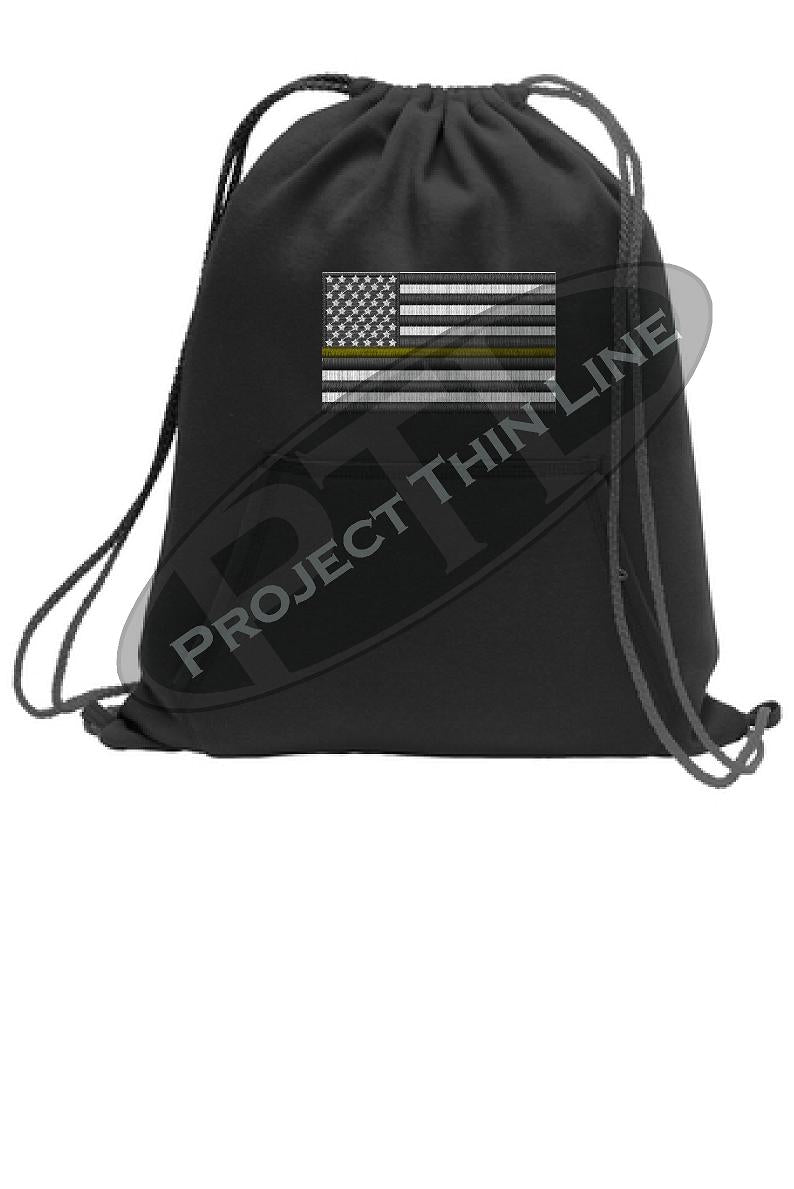 Thin GOLD Line Flag Cinch Sack Backpack