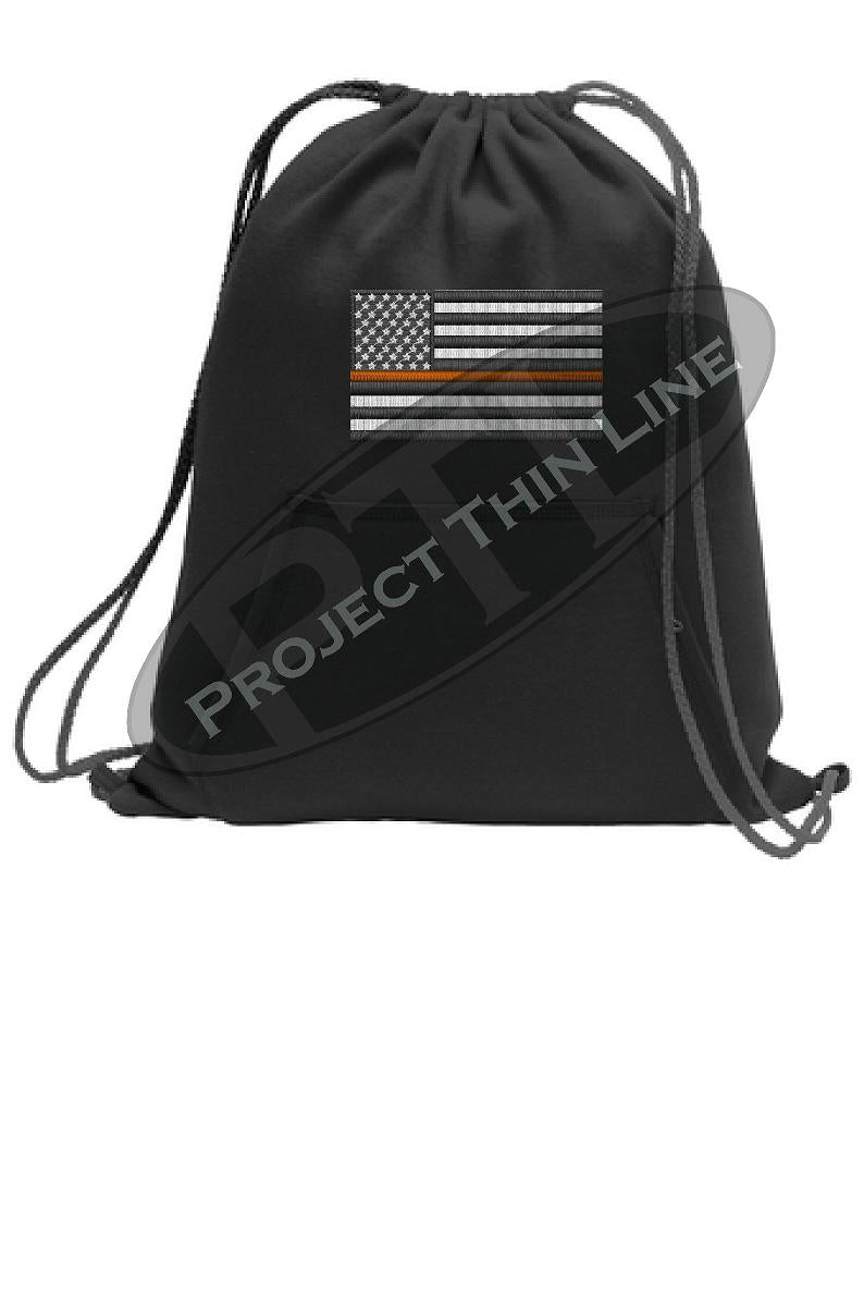 Thin ORANGE Line Flag Cinch Sack Backpack