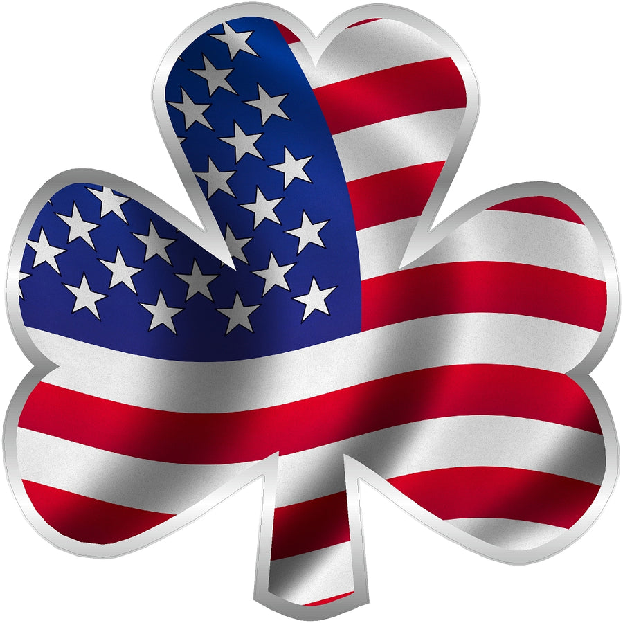 "3"" USA Shamrock Clover Sticker Decal"