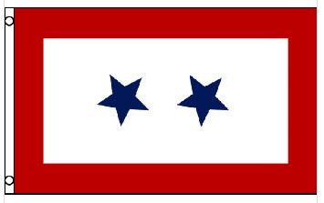 3' x 5' Poly 2 Blue Star Service Flag