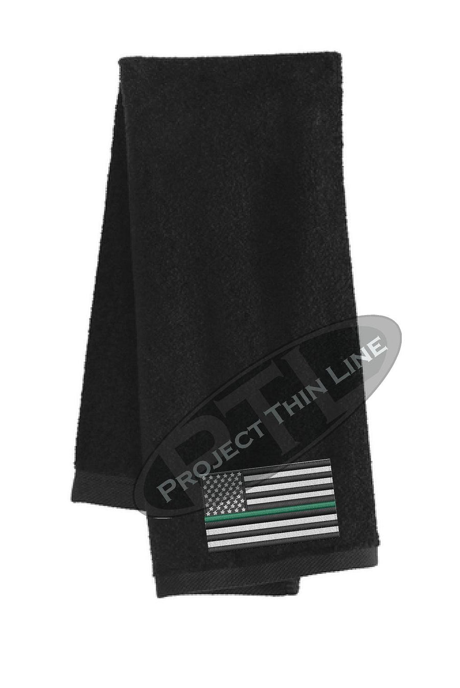 Thin GREEN Line Flag Workout Gym Towel