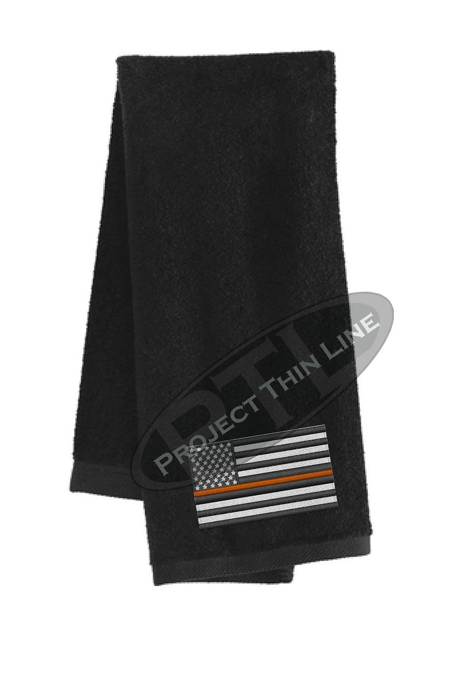 Thin ORANGE Line Flag Workout Gym Towel