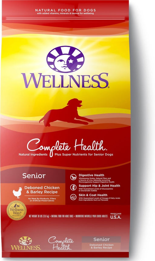Wellness Complete Health Natural Senior Health Chicken Recipe Dry Dog Food