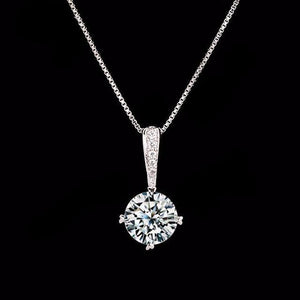 Cubic Zirconia Chain Pendant Necklace - Bliss Ever After