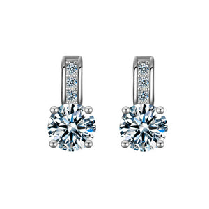 Crystal Stud Drop Earrings - Bliss Ever After