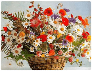 Basket with Colorful Flowers - LOVIELO