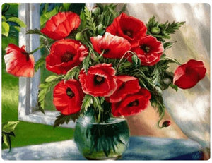 Vase with Red Flowers - LOVIELO