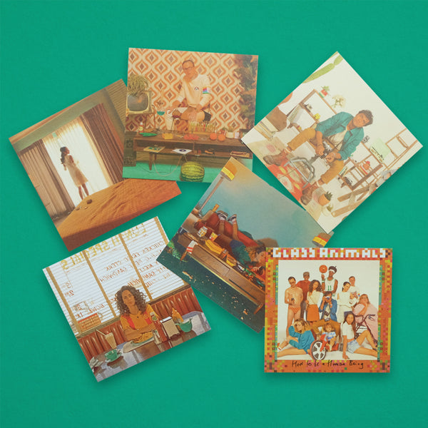 GLASS ANIMALS POSTCARD SET (6PC)