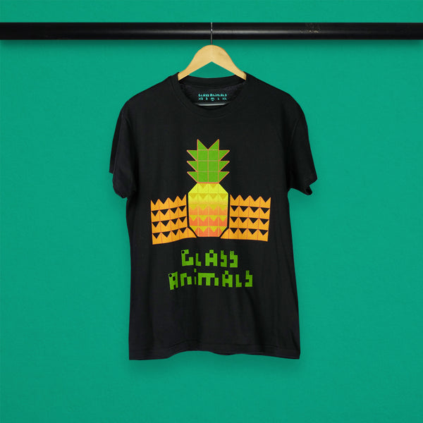 SUNSET PINEAPPLE BLACK T-SHIRT