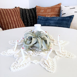 Crochet Swan Centerpiece