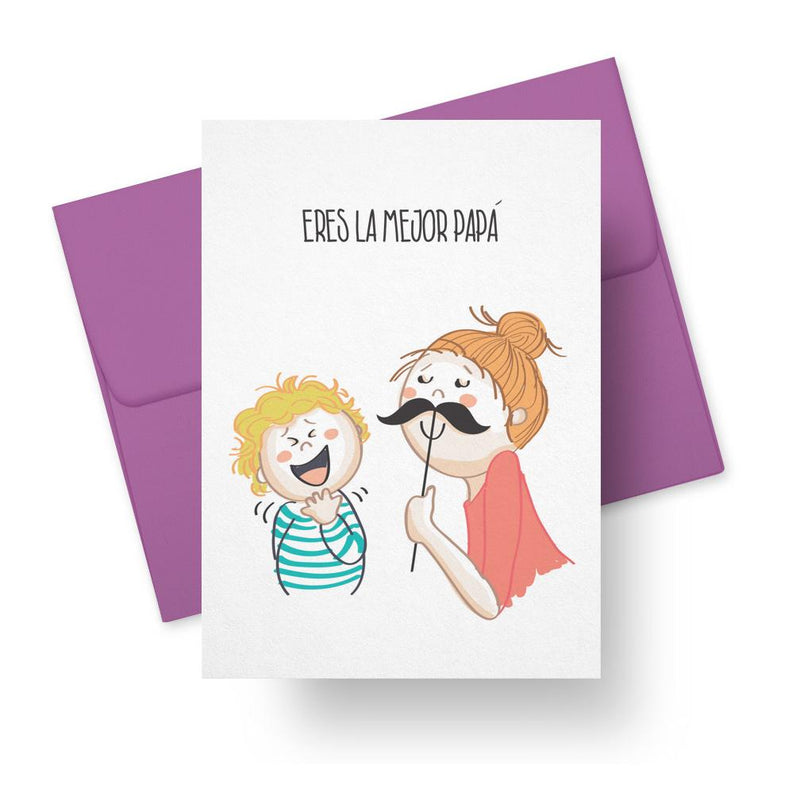 Eres La Mejor Papá - Spanish Fathers Day Greeting Card