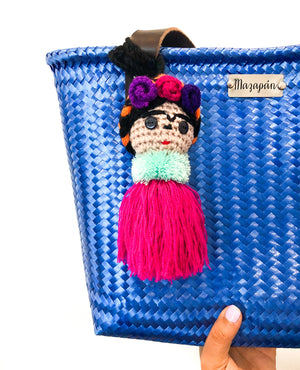frida kahlo bag charm