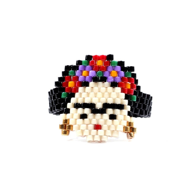 Woven Beaded Frida Ring