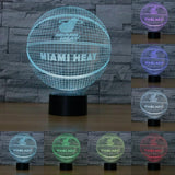 Miami Heat Lampe optique LED illusion 3D 🏀 - Ma Deco Maison