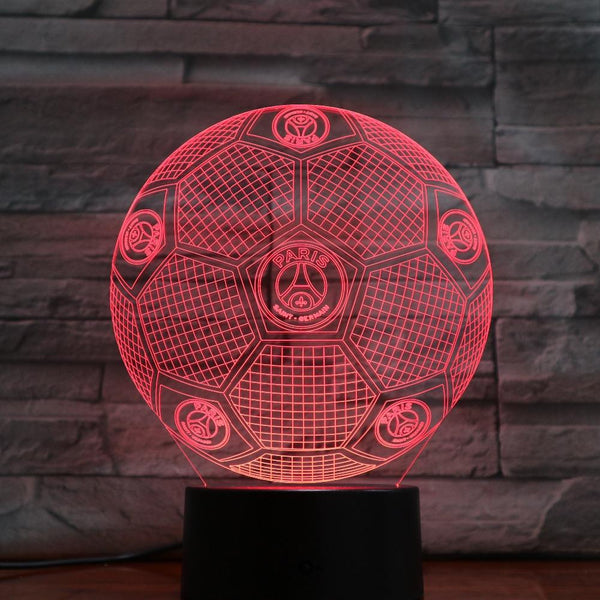 Paris SG Ballon Lampe optique LED illusion 3D ⚽ - Ma Deco Maison