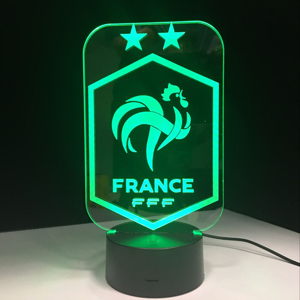 Equipe de France FFF Lampe optique LED CHAMPIONS ⭐⭐⚽ - Ma Deco Maison