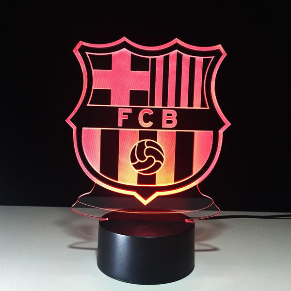 FC Barcelone Logo Lampe optique LED illusion 3D ⚽ - Ma Deco Maison