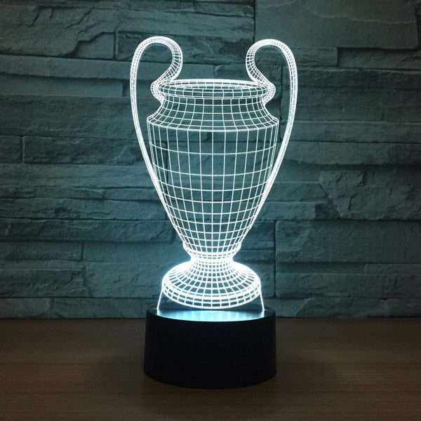 Ligue des Champions Lampe optique LED illusion 3D 🏆⚽ - Ma Deco Maison