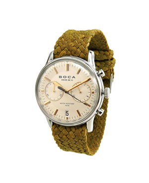 Metropole Chrono Beige with Camel Wristband