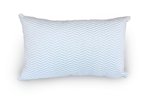 Embroidered Herringbone Oblong Scatter Cushion